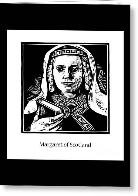 St. Margaret Of Scotland - Jlqms Greeting Card by Julie Lonneman
