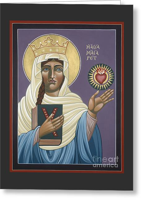 St Margaret Paintings Greeting Cards - St Margaret Queen of Scotland 158 Greeting Card by William Hart McNichols