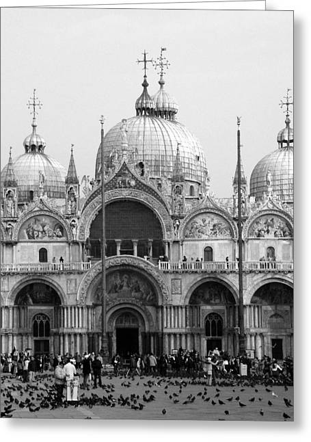 St. Marks Greeting Card by Donna Corless