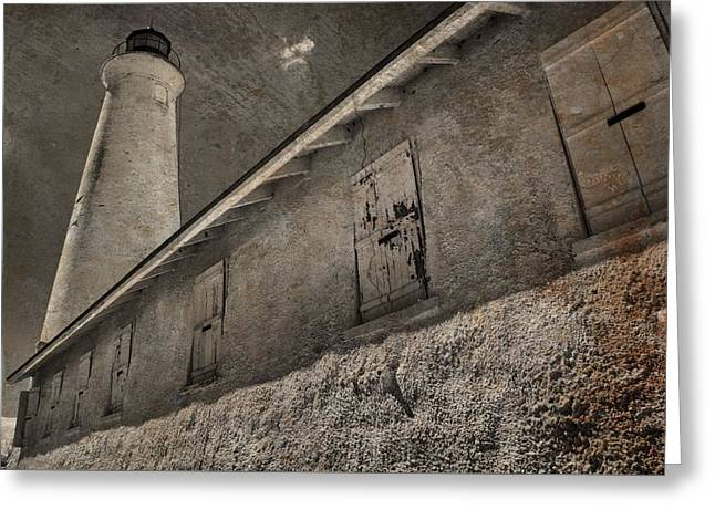 St Marks Lighthouse Greeting Card by Jim Cook