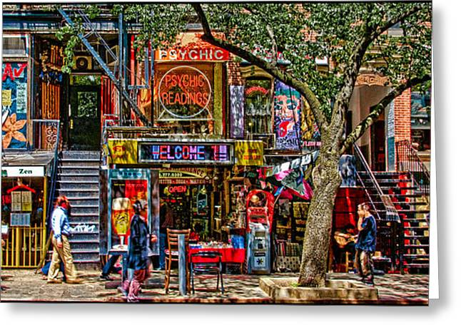 Chris Lord Greeting Cards - St Marks Place Greeting Card by Chris Lord