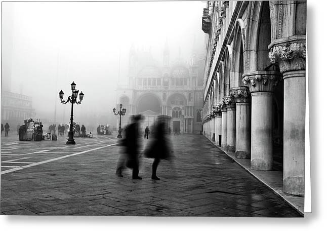 St. Mark Greeting Cards - St Marks Square Greeting Card by Marion Galt