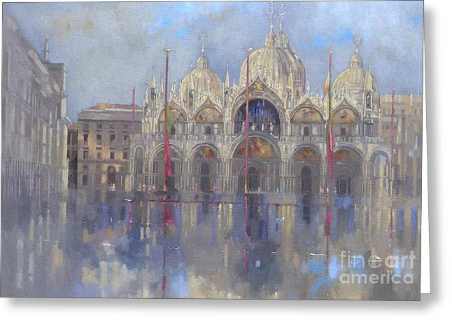 St Mark's -venice Greeting Card by Peter Miller