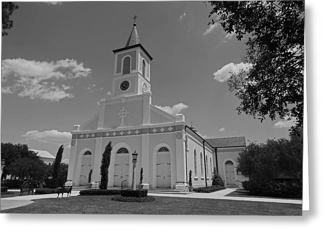 St. Martinville Church Greeting Card by Ronald Olivier