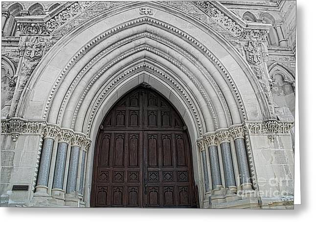 St. Mary Cathedral- Austin Texas Greeting Card by Luther Fine Art