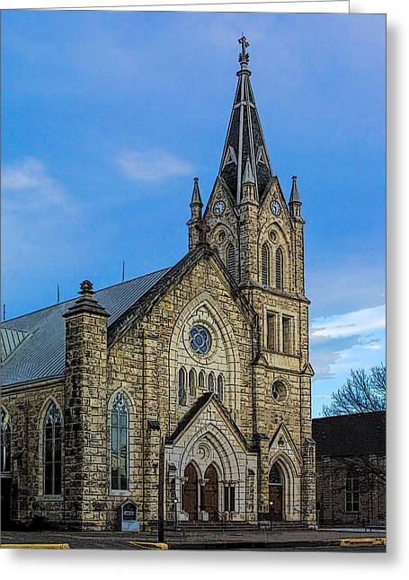 Stepping Stones Greeting Cards - St. Marys Catholoc Church Greeting Card by Linda Phelps