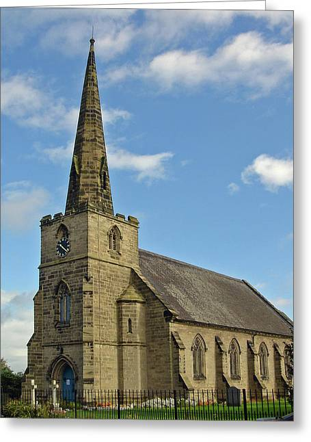 Coton Photographs Greeting Cards - St Marys Church - Coton in the Elms Greeting Card by Rod Johnson