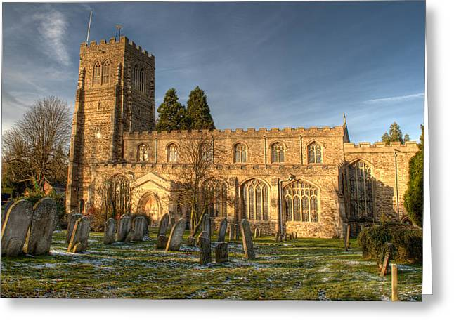 St Marys Greeting Cards - St Marys Church Eaton Socon Greeting Card by Chris Thaxter