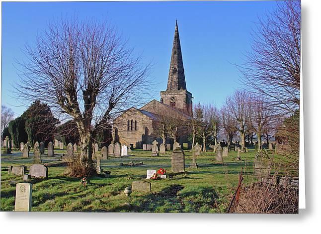 St Mary's Church - Marston-on-dove Greeting Card by Rod Johnson