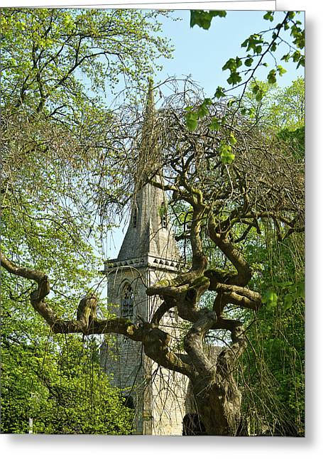 St Marys Greeting Cards - St Marys Church Through the Trees Greeting Card by Douglas Barnett