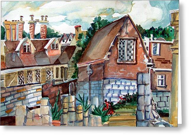 Stone House Drawings Greeting Cards - St Marys of York England Greeting Card by Mindy Newman