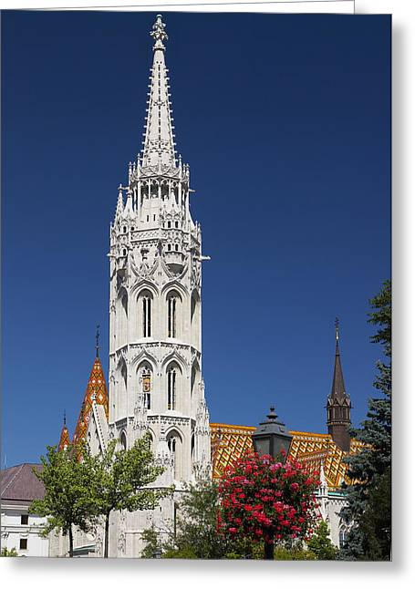 The Church Photographs Greeting Cards - St Mathias Church  Budapest, Hungary Greeting Card by Terence Waeland