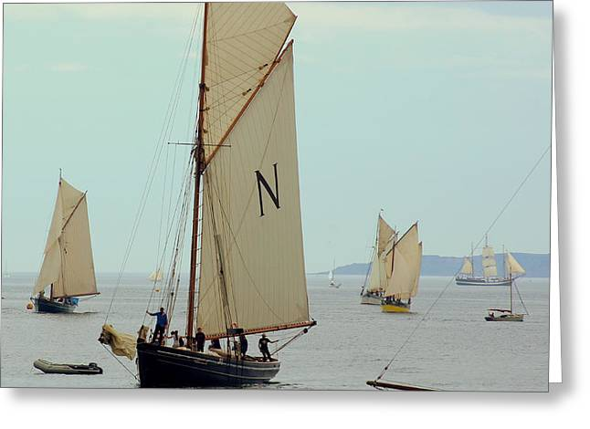 Sailing Ship Greeting Cards - St Mawes Pilot Boats Greeting Card by Peter Hunt