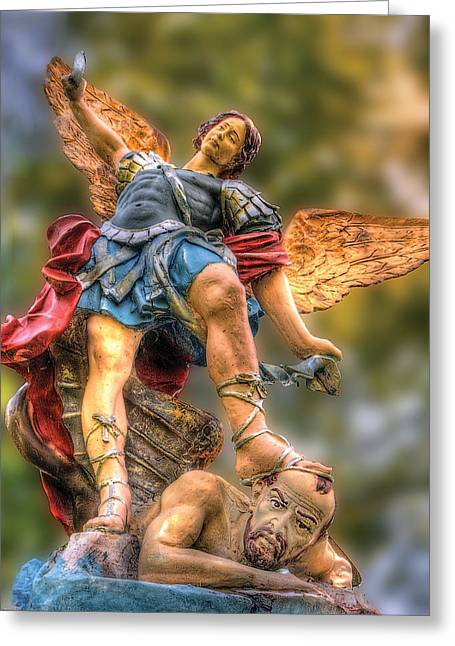 St. Michael Greeting Card by Don Wolf