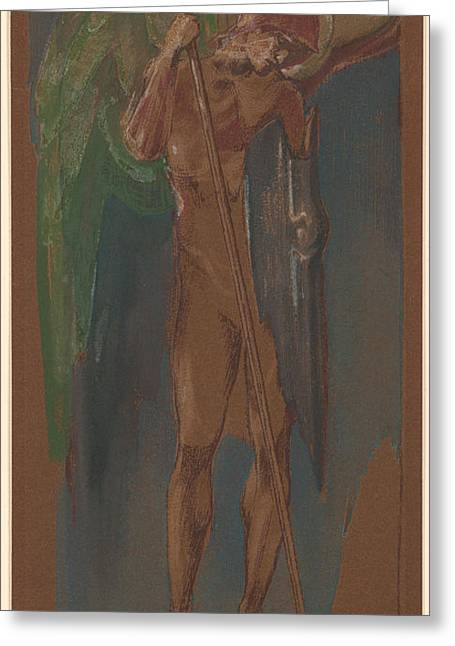 1833 Greeting Cards - St Michael Greeting Card by Edward Coley Burne-Jones