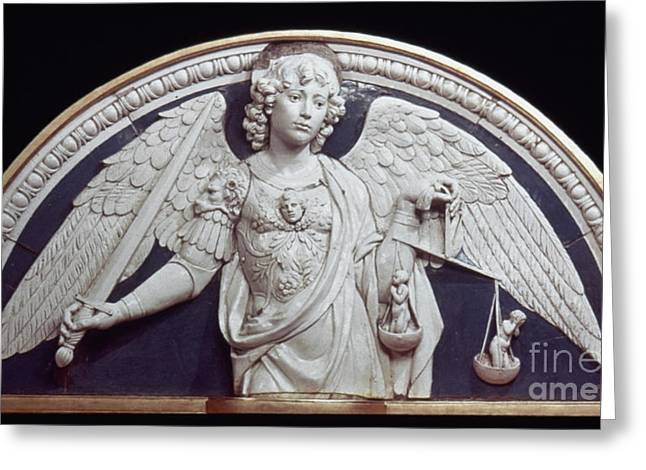 ST. MICHAEL THE ARCHANGEL Greeting Card by Granger