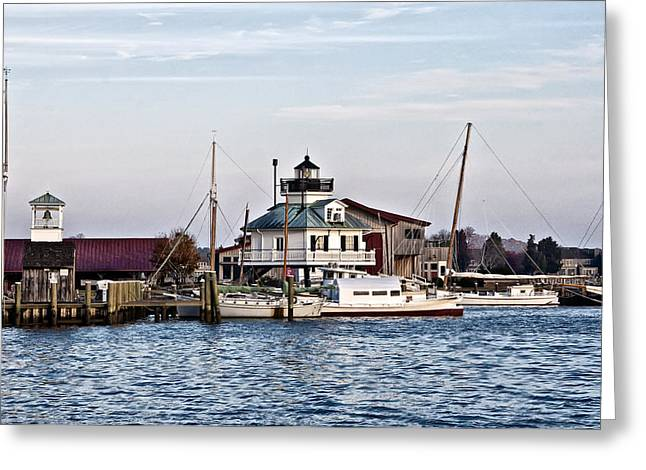 St Michael Greeting Cards - St Michaels Maryland Lighthouse Greeting Card by Bill Cannon