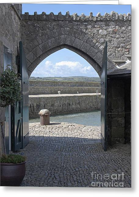 Entrance Door Greeting Cards - St Michaels Mount Gateway Greeting Card by Terri  Waters