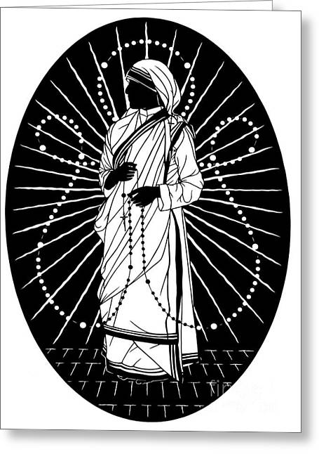 St. Teresa Of Calcutta - Love To Pray - Dpte1r Greeting Card by Dan Paulos