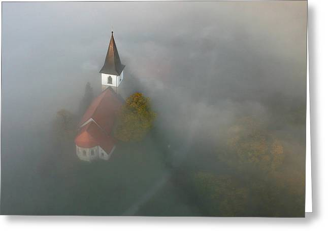 Fog Greeting Cards - St. Nicholas Greeting Card by Matjaz Cater