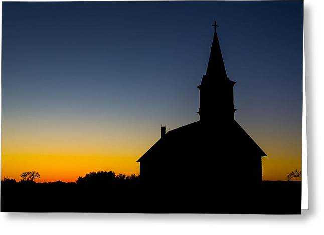 St Olaf Silhouette  Greeting Card by Stephen Stookey