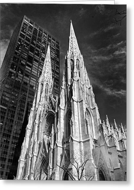 St. Patrick's Cathedral Greeting Card by Jessica Jenney