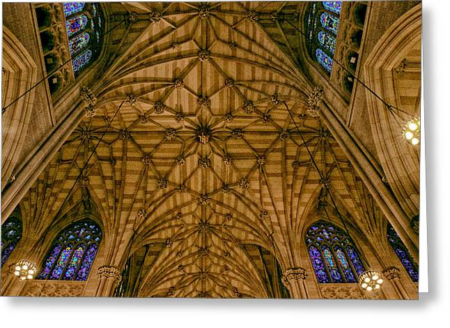St. Patrick's Ceiling Greeting Card by Jessica Jenney