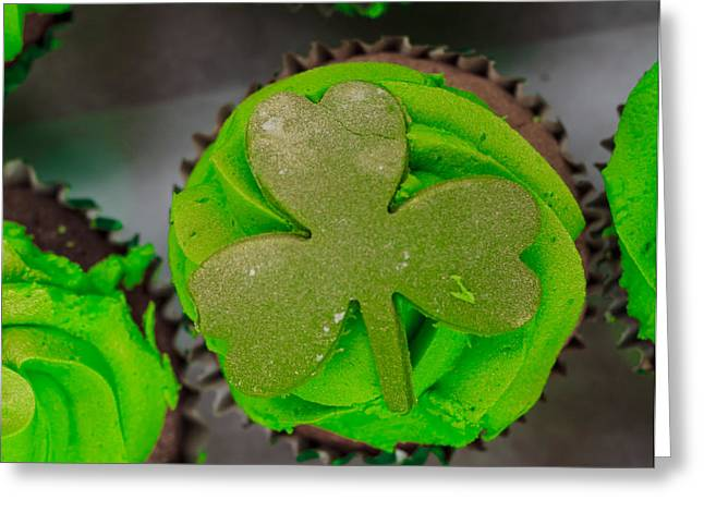 Sign. Cupcakes Greeting Cards - St Patricks Day Cupcake Greeting Card by Claire  Doherty