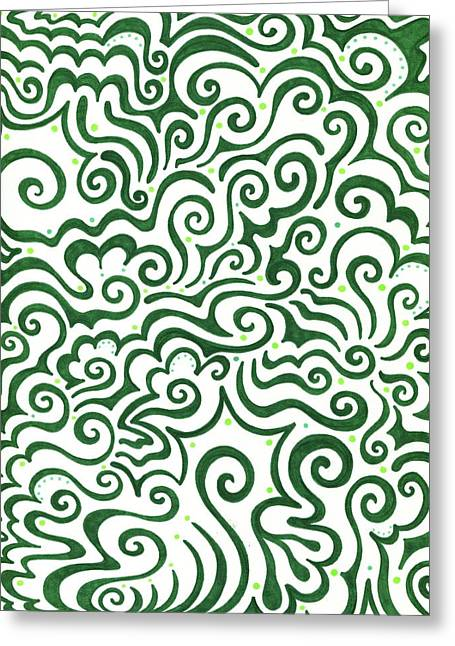 St Patrick's Day Abstract Greeting Card by Mandy Shupp