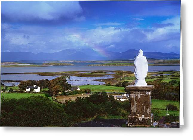 Horizontally Greeting Cards - St Patricks Statue, Co Mayo, Ireland Greeting Card by The Irish Image Collection