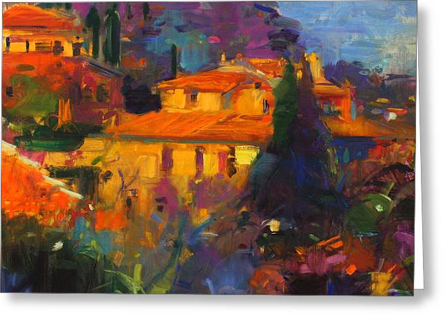 Vence Greeting Cards - St Paul de Vence Greeting Card by Peter Graham