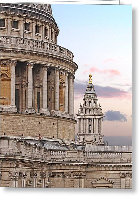 Old Home Place Greeting Cards - St Pauls Cathedral Detail Greeting Card by Gill Billington