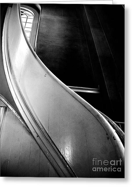 Wooden Stairs Greeting Cards - St Pauls Chapel Stair Greeting Card by James Aiken