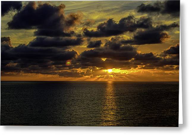St. Pete Sunset Greeting Card by Susie Weaver