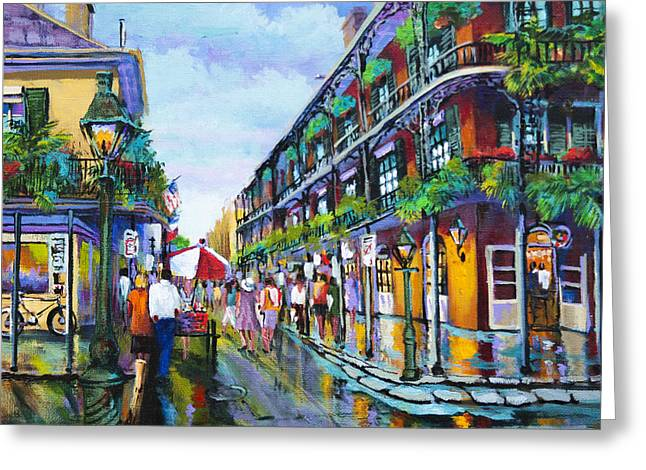Royal Street Greeting Cards - St. Peters Balconies Greeting Card by Dianne Parks