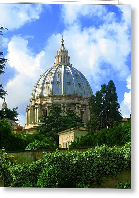 Michelangelo Greeting Cards - St. Peters Basillica - Rome Greeting Card by Jack Sanders
