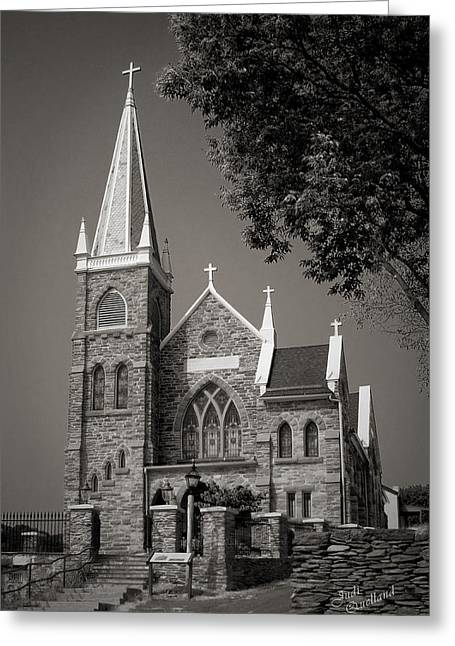 St. Peter's Catholic Chuch Greeting Card by Judi Quelland