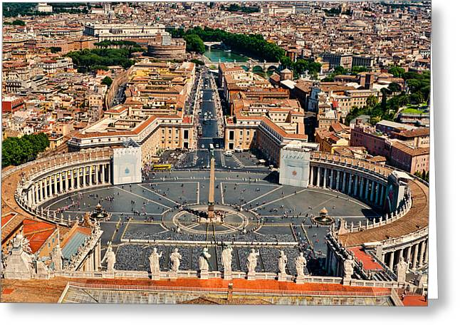 Berghoff Greeting Cards - St Peters Square Greeting Card by Jon Berghoff