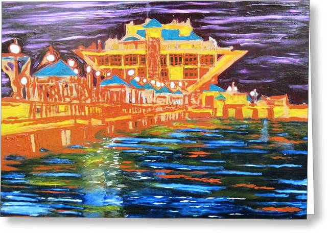 St Petersberg Pier Greeting Card by Alfredo Dane Llana