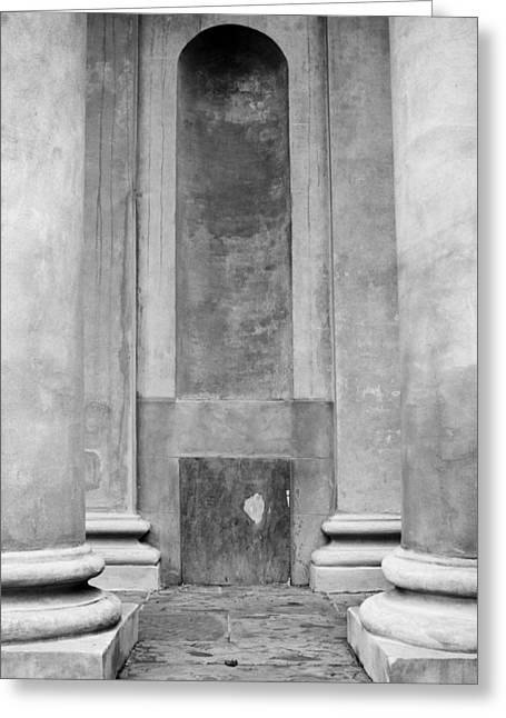 Church Pillars Greeting Cards - St. Philips Church Pillars II Greeting Card by Dustin K Ryan