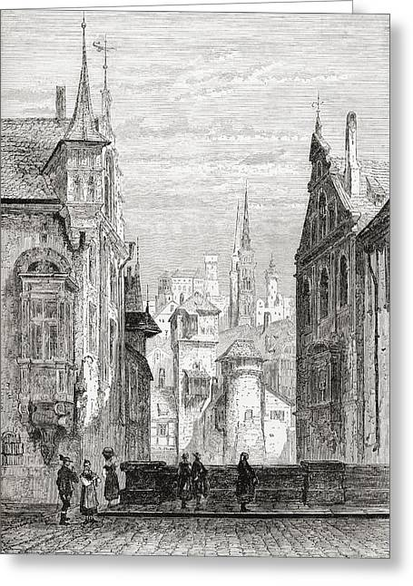 Laurence Greeting Cards - St. Sebaldus Church And Castle Greeting Card by Ken Welsh