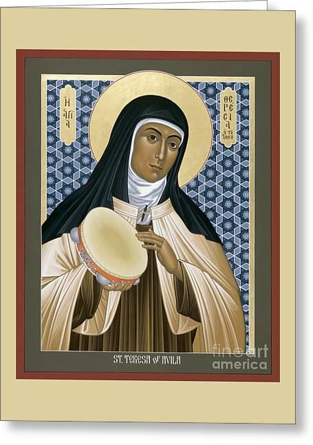 St. Teresa Of Avila - Rltoa Greeting Card by Br Robert Lentz OFM