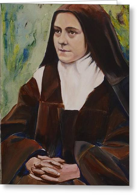 St. Therese Of Lisieux IIi Greeting Card by Sheila Diemert