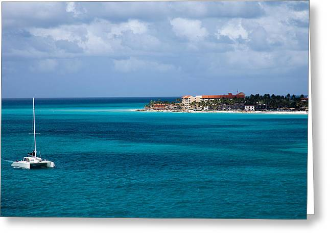 Ocean Sailing Greeting Cards - St. Thomas Greeting Card by Cory Rubright