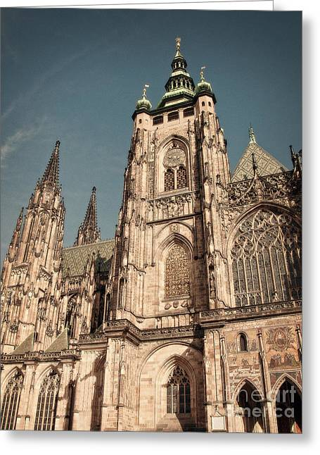 Greeting Cards - St Vitus Cathedral Prague Greeting Card by Ivy Ho