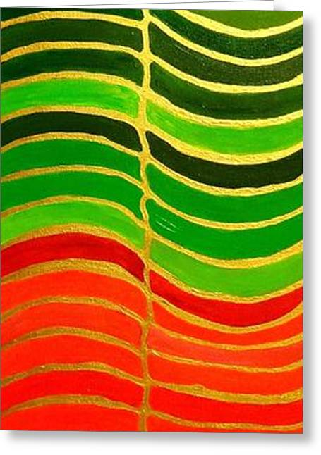 Stability Vertical Banner Greeting Card by Karen Jane Jones