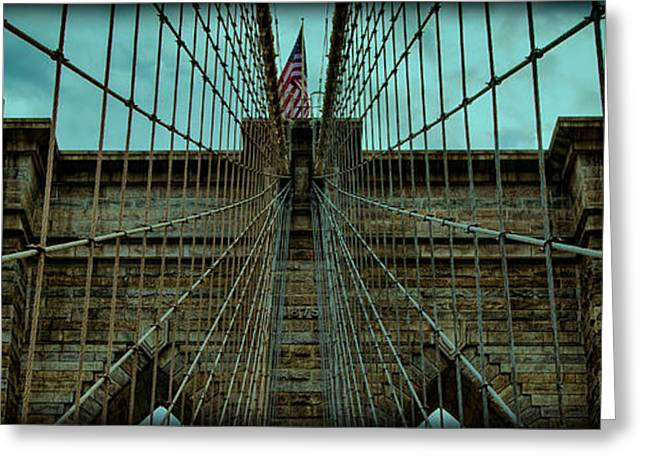 River Scenes Greeting Cards - Stable - Brooklyn Bridge Greeting Card by Stephen Stookey