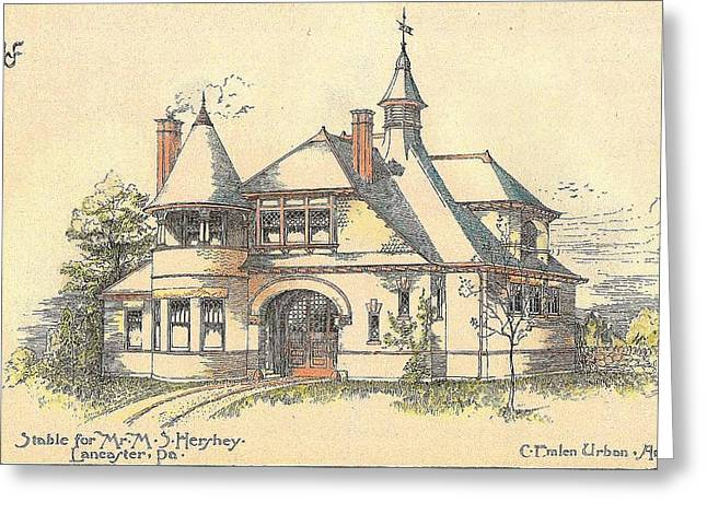 Hershey Greeting Cards - Stable for Mr. M. S. Hershey Lancaster Pennsylvania 1891 Greeting Card by Emlen Urban