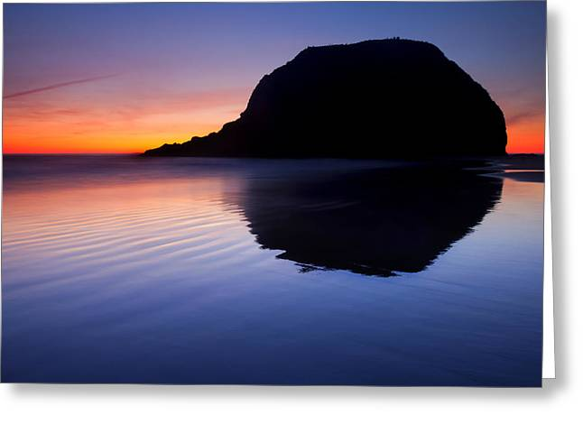 Oregon Coast Greeting Cards - Stack Reflections Greeting Card by Mike  Dawson