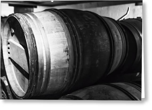 Cellar Greeting Cards - Stacked Barrels Greeting Card by Nomad Art And  Design